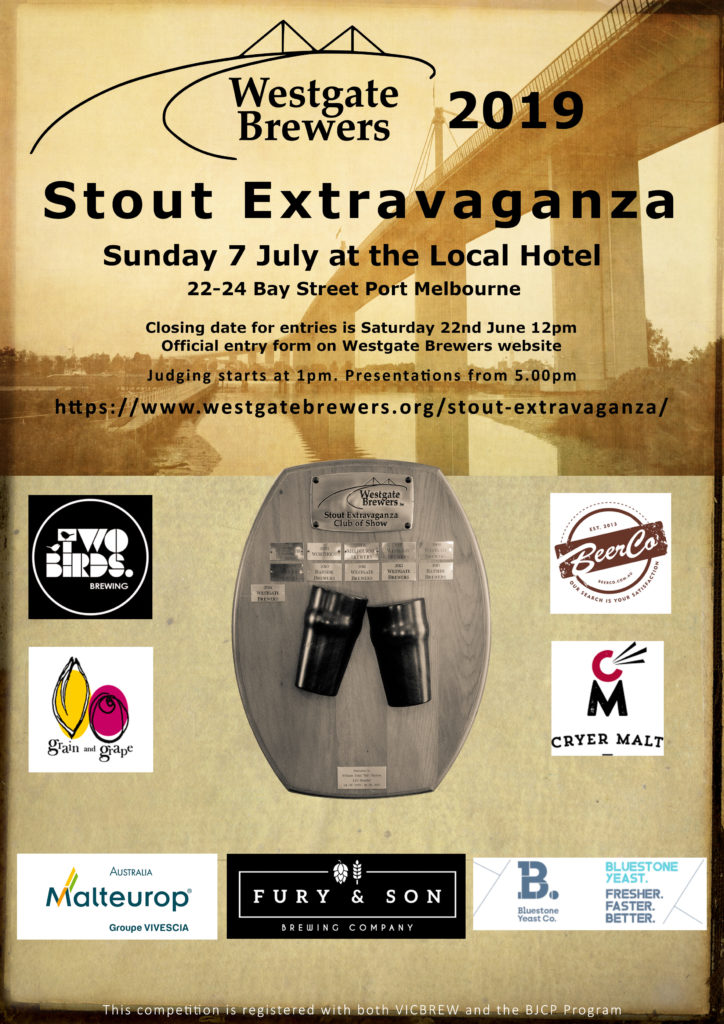 Westgate Brewers 2019 Stout Extravaganza